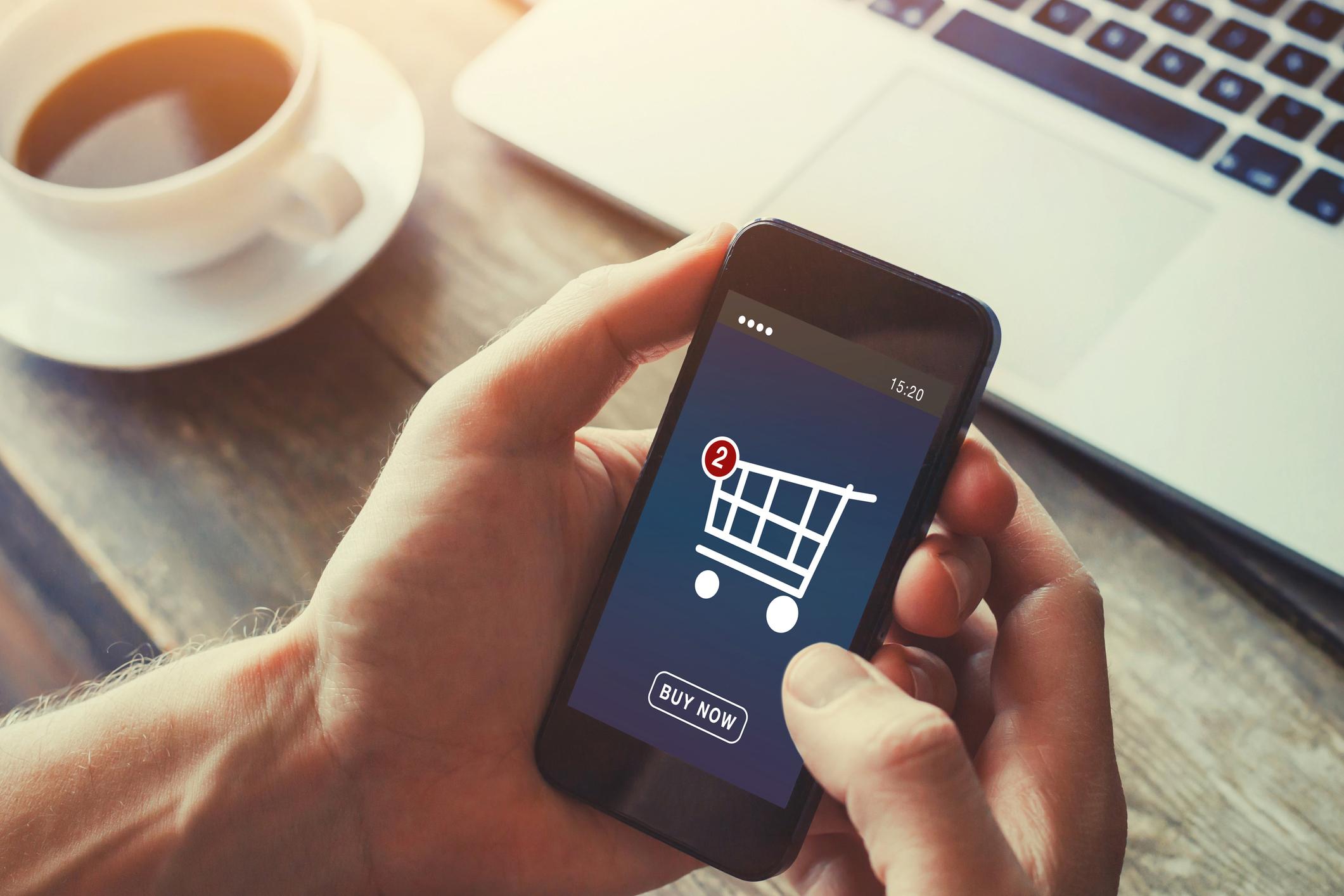 shopping online on internet store